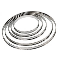 CERCLE A TARTE 22CM  INOX  PERFORE BORD ROULE DE BUYER
